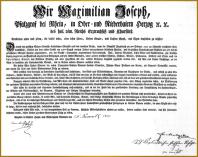 Abtretungsurkunde 1803